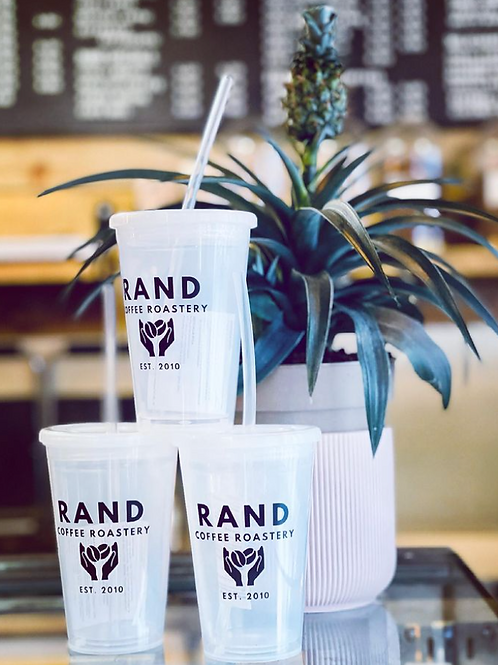 RAND Clear Reusable Coffee Cups