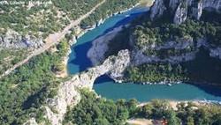 Vue aérienne des gorges...