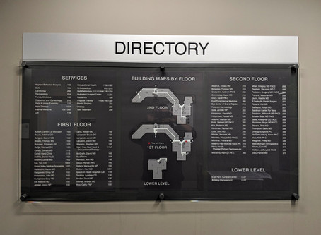 Interior wayfinding is just as important as exterior!