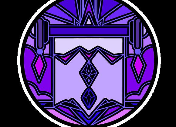 FORTUNA (Button) Literary pin of Animus (Purple)