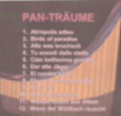 CD Pan-Träume hinten