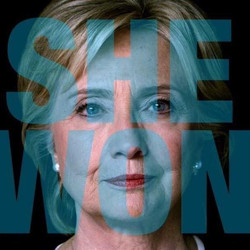 SHE WON