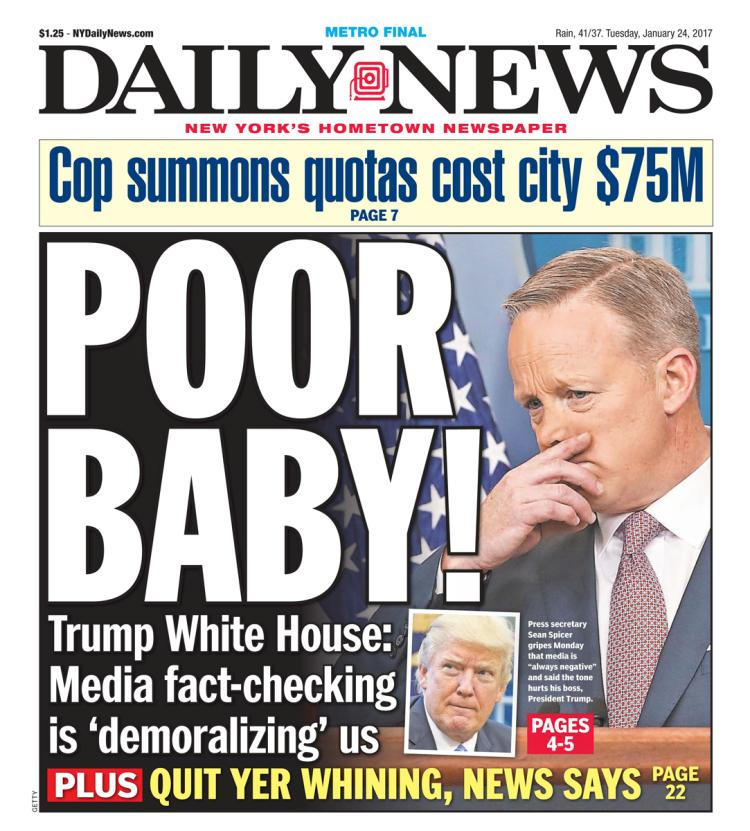 New York Daily News 1/23/17