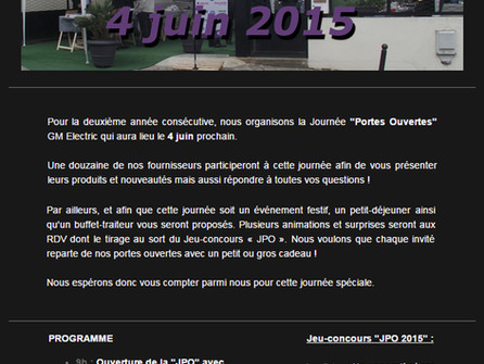 """Journée """"Portes Ouvertes"""" 2015"""