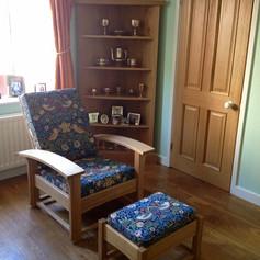 Contemporary Oak Morris Chair