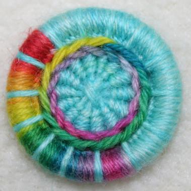Rainbow Dorset Button
