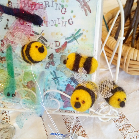 Felted Bees