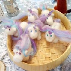 Felted Unicorns