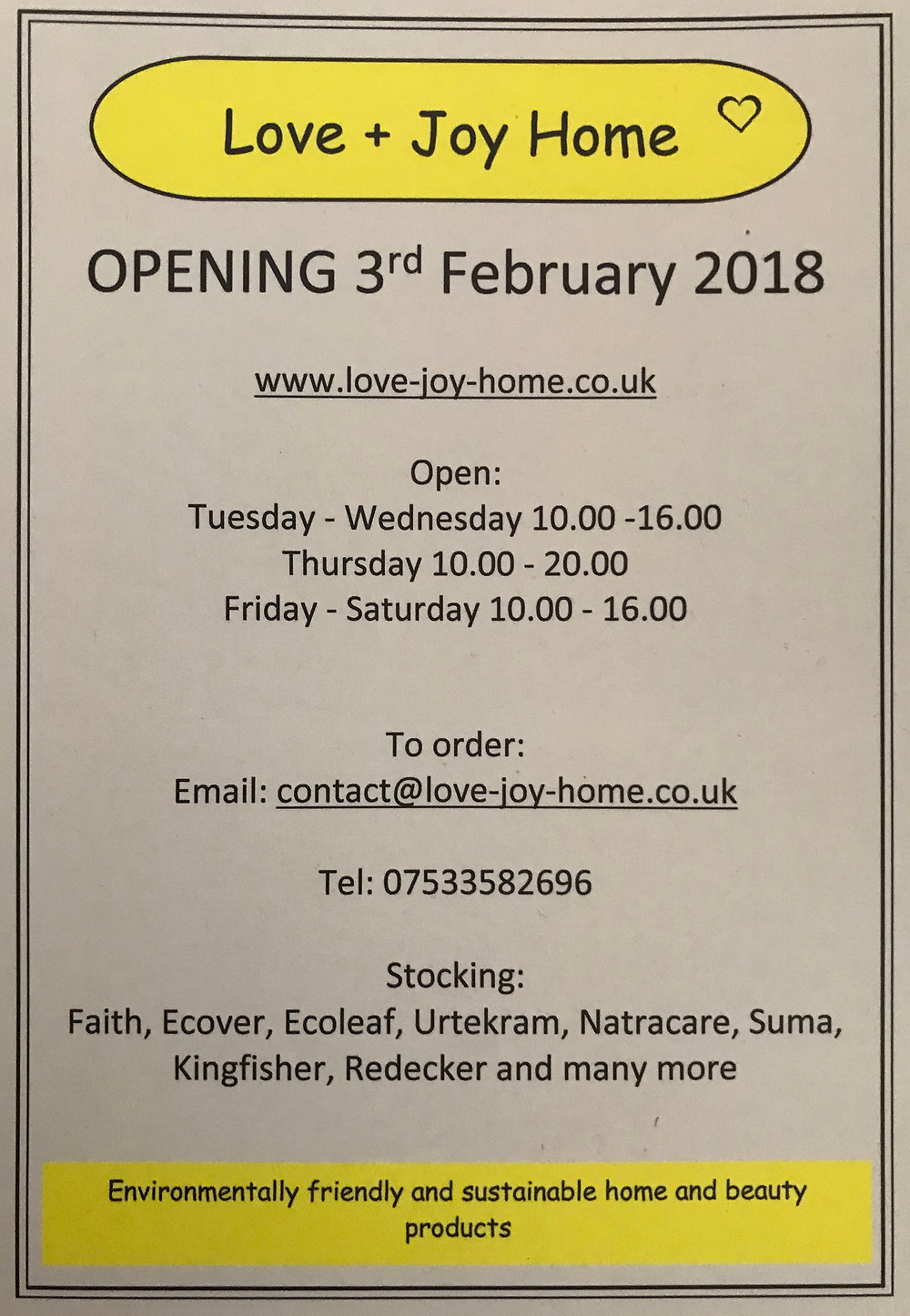Our new shop opening within Scents Of Spirit