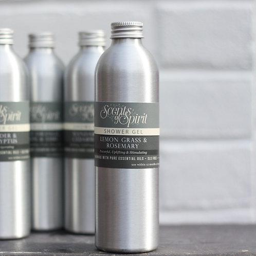 Lemongrass & rosemary shower gel