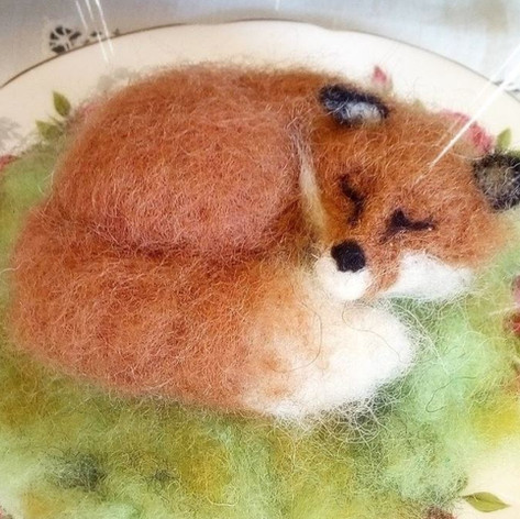 Felted Sleeping Fox