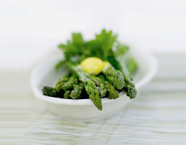 Health Asparagus with butter