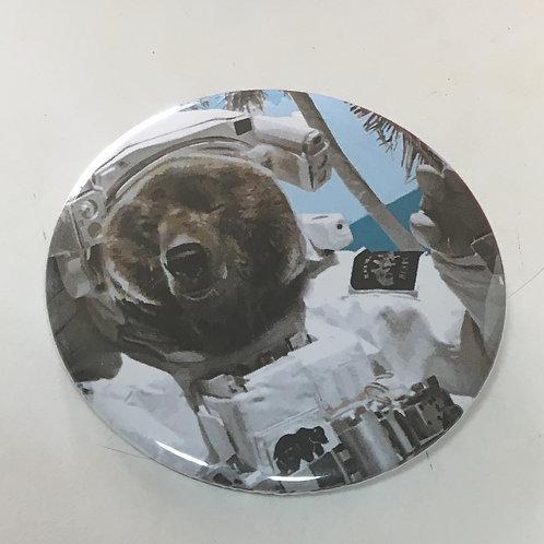 Astronaut Bear Button