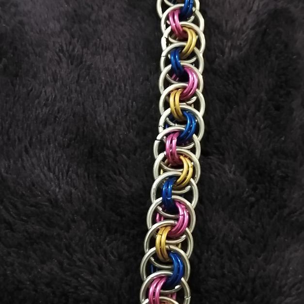 Pansexual Viper Basket Bracelet