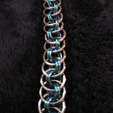 Transexual Pink over Blue  Viper Basket Bracelet