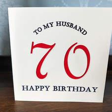 Custom 70th Birthday Card