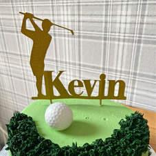 Custom Golfer Cake Topper