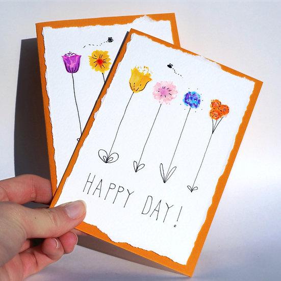 Happy Day Handmade Greetings Card!