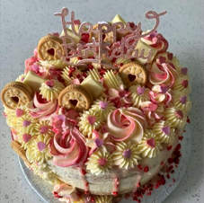 Happy Birthday Curly Cake Topper