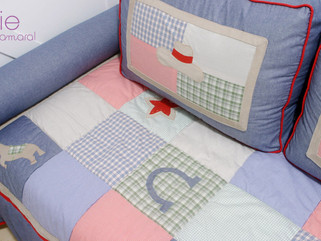 Quarto infantil decorado com patchwork