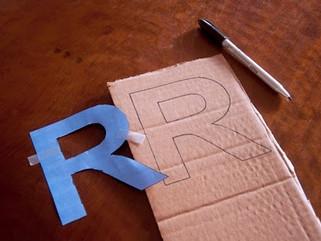 Dicas de decoração - Letras feitas em casa