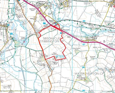 Sibson Garden Village - location map