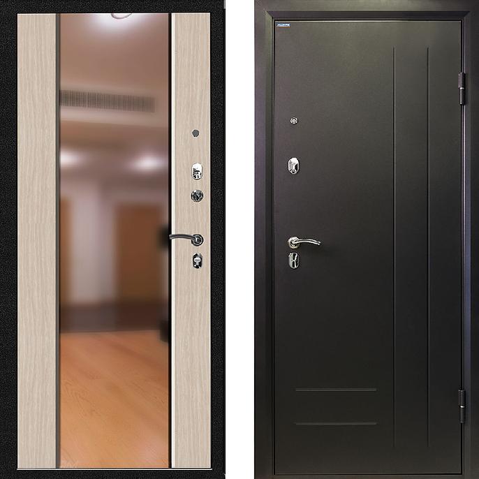 входная дверь с зеркалом и повышенной теплоизоляцией
