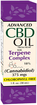 CBD Oil 375mgs with Terpenes Complex