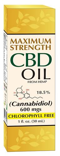 CBD Hemp Oil 600 mg Maximum Strength