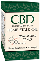 CBD from Standardized Hemp Stalk Oil sof