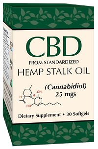 CBD from Standardized Hemp Stalk Oil sof