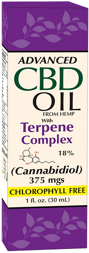 CBD Oil 375 mgs With Terpenes Complex