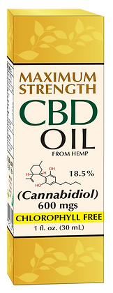 CBD Hemp Oil 600mgs Maximum Strength