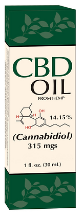 CBD Hemp Oil 315mgs