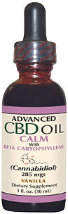Advanced CBD Oil Calm with Beta 285 mgs.