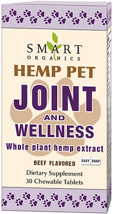 Hemp Pet Joint and Wellness Easy Snap Tablets