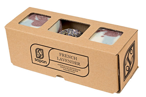 2 Soap & 1 Bathbomb Gift Box - French Lavender