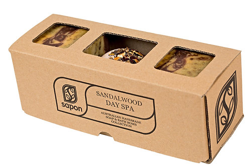 2 Soap & 1 Bathbomb Gift Box - Sandalwood Day Spa