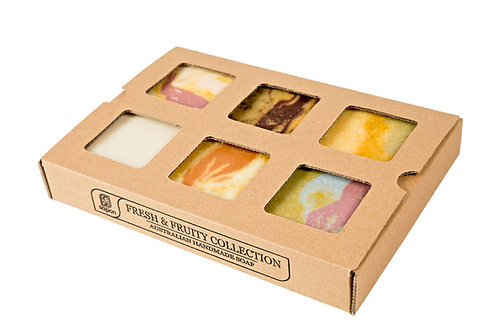 Fresh & Fruity Collection - Box of 6 Soaps