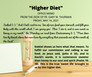 "Friday, May 14, 2021: ""HIGHER DIET"""