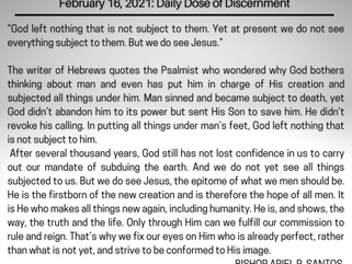 February 16, 2021: Daily Dose of Discerment