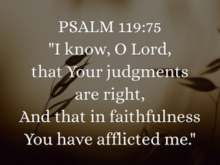 """Faithful Affliction"""