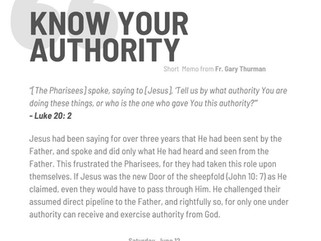 Saturday, June 12, 2021: KNOW YOUR AUTHORITY