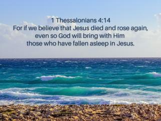 """""""Asleep in Jesus"""""""