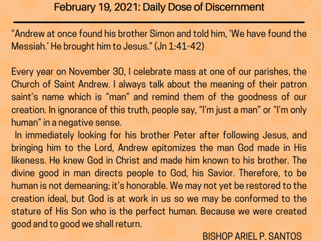 February 19, 2021: Daily Dose of Discernment