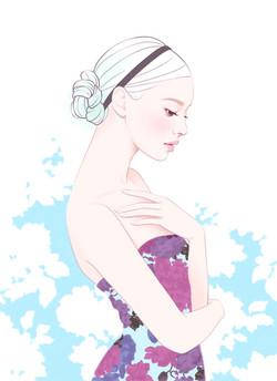 美しい女性イラスト katyusha