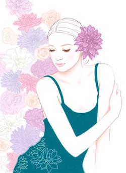 美しい女性イラスト hana