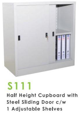 Half Height Steel Sliding Door Cupboard