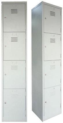 4 Compartments Metal Locker