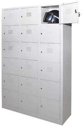18 Compartments Metal Locker